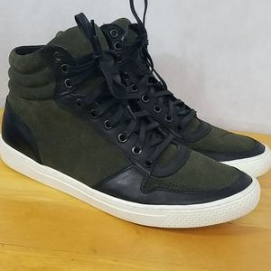 Black Suede Leather Hightop Shoes size 10.5